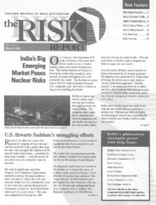Risk Report Newsletter Launched