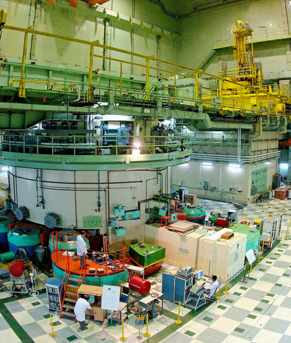 India's Dhruva heavy water research reactor